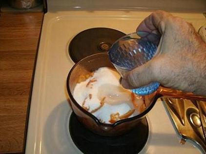 making the sugar syrup